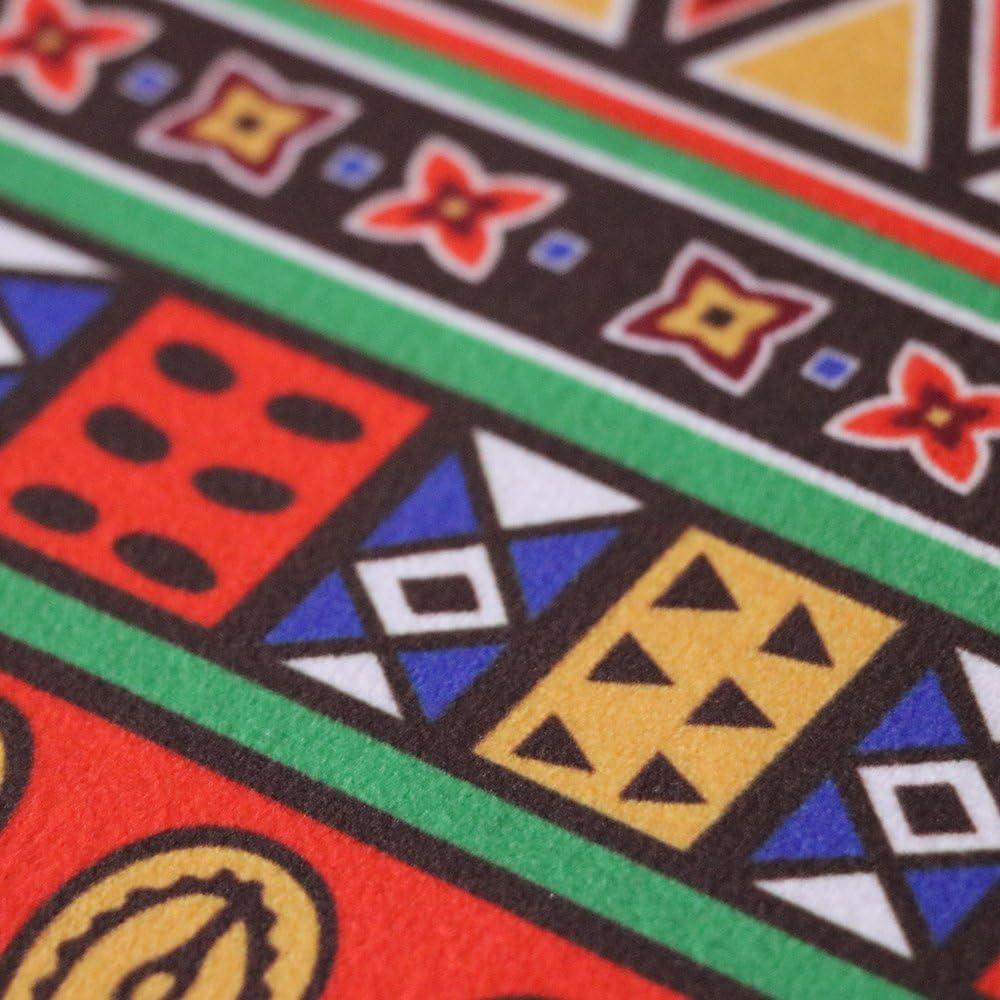 Carvapet 2 Piece Non-Slip Kitchen Mat Runner Rug Set Doormat Vintage Design Indian Style,Stripe 15x47+15x23
