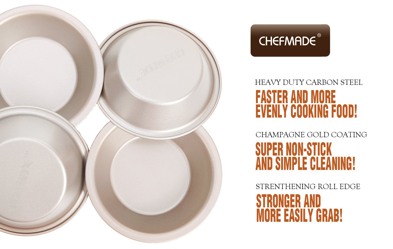 """Size 2.87/""""0.86/"""" By GLLEEN Set of 10 Anodized Aluminum Pudding Mould Baking Tool Cake Cookie Mold Mini Pie Pans"""