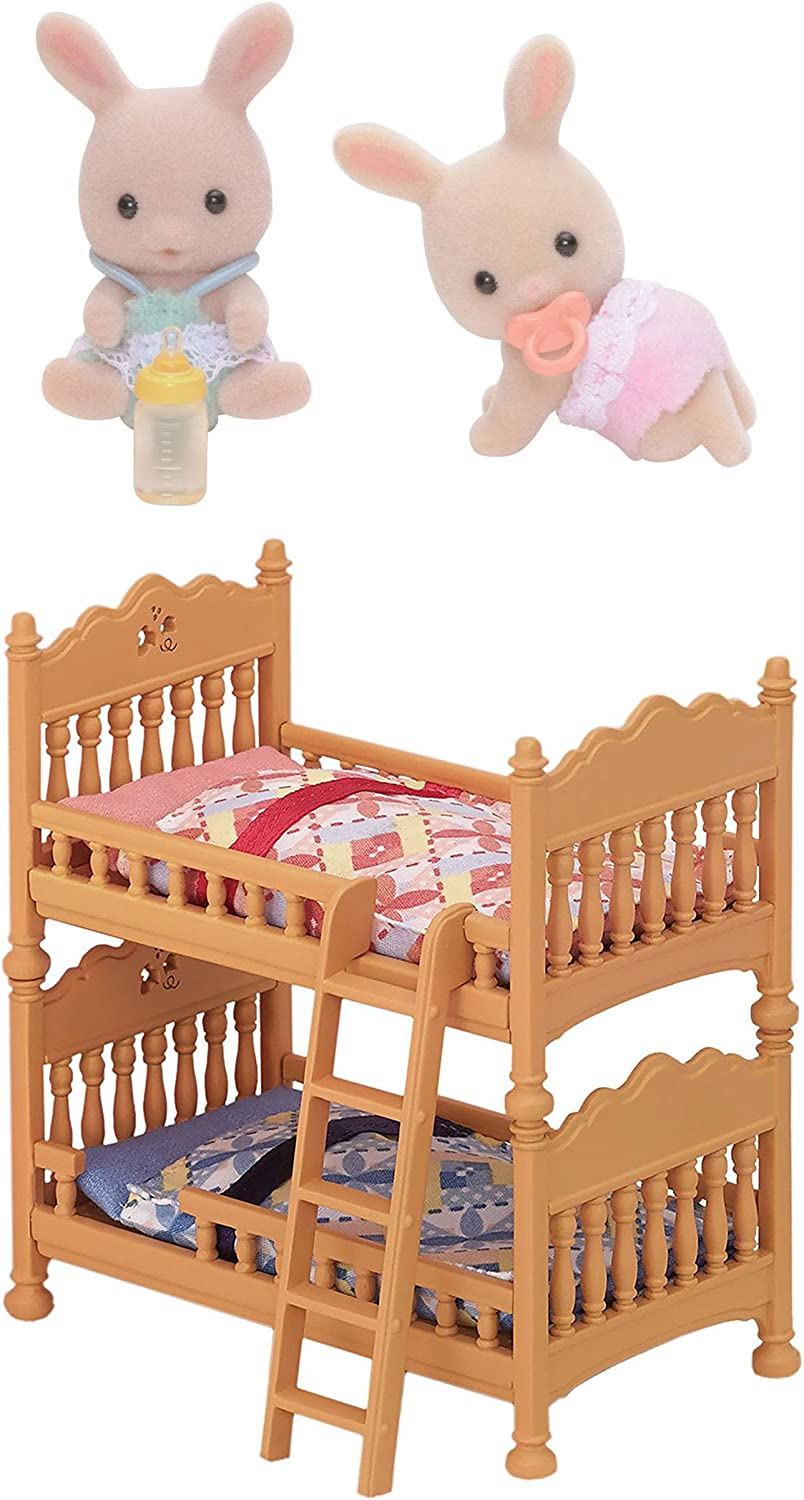 Amazon.es: Two Sylvanian Families Sets - Rabbit Twins and Double Bunk Bed by Sylvanian Families: Juguetes y juegos
