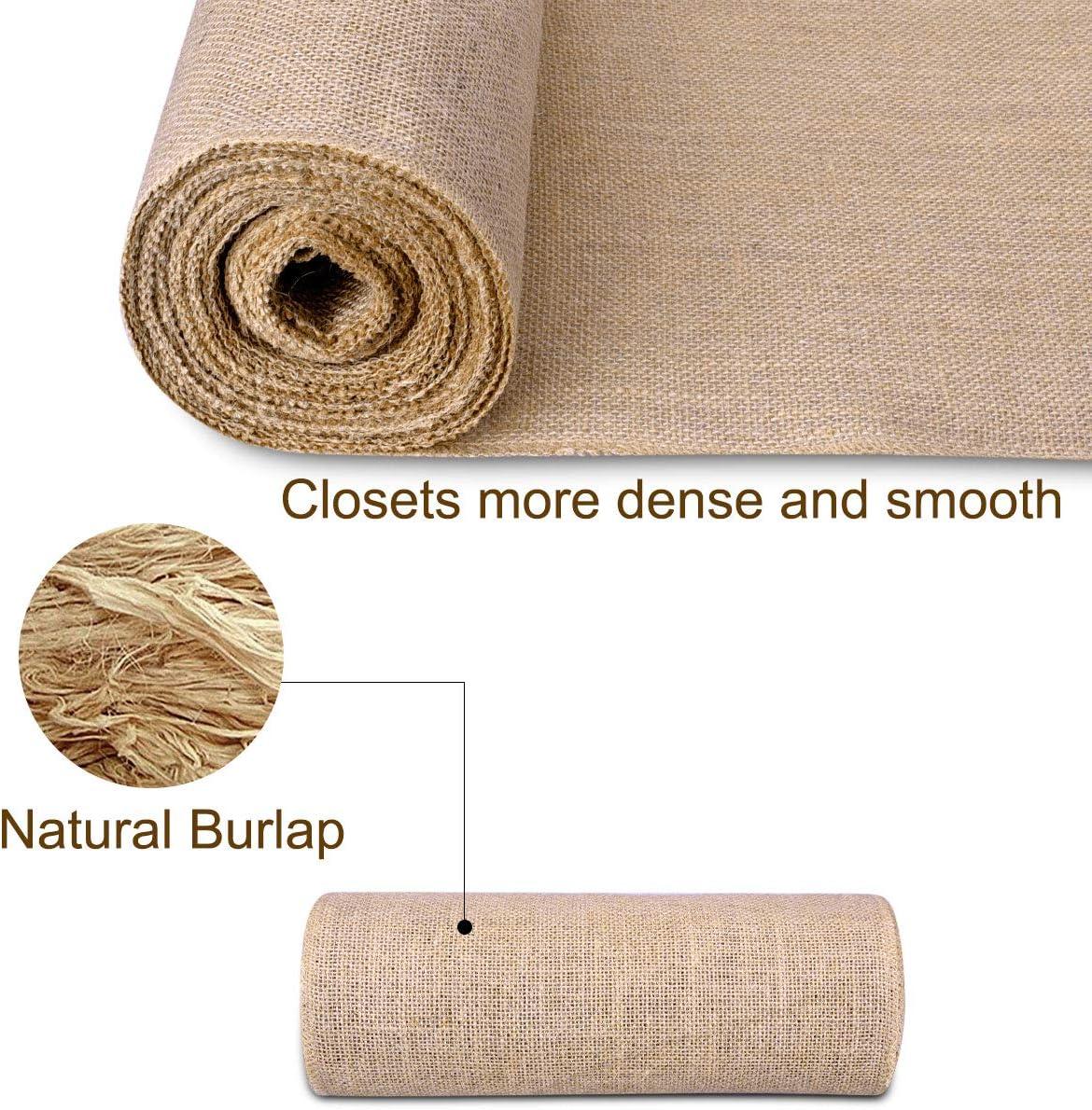 Mode 5CM Haute Qualit/é 10 M Tiss/é Rustique Hesse Jute Toile De Jute Tissu Ruban Table Chemin D/écor De Mariage