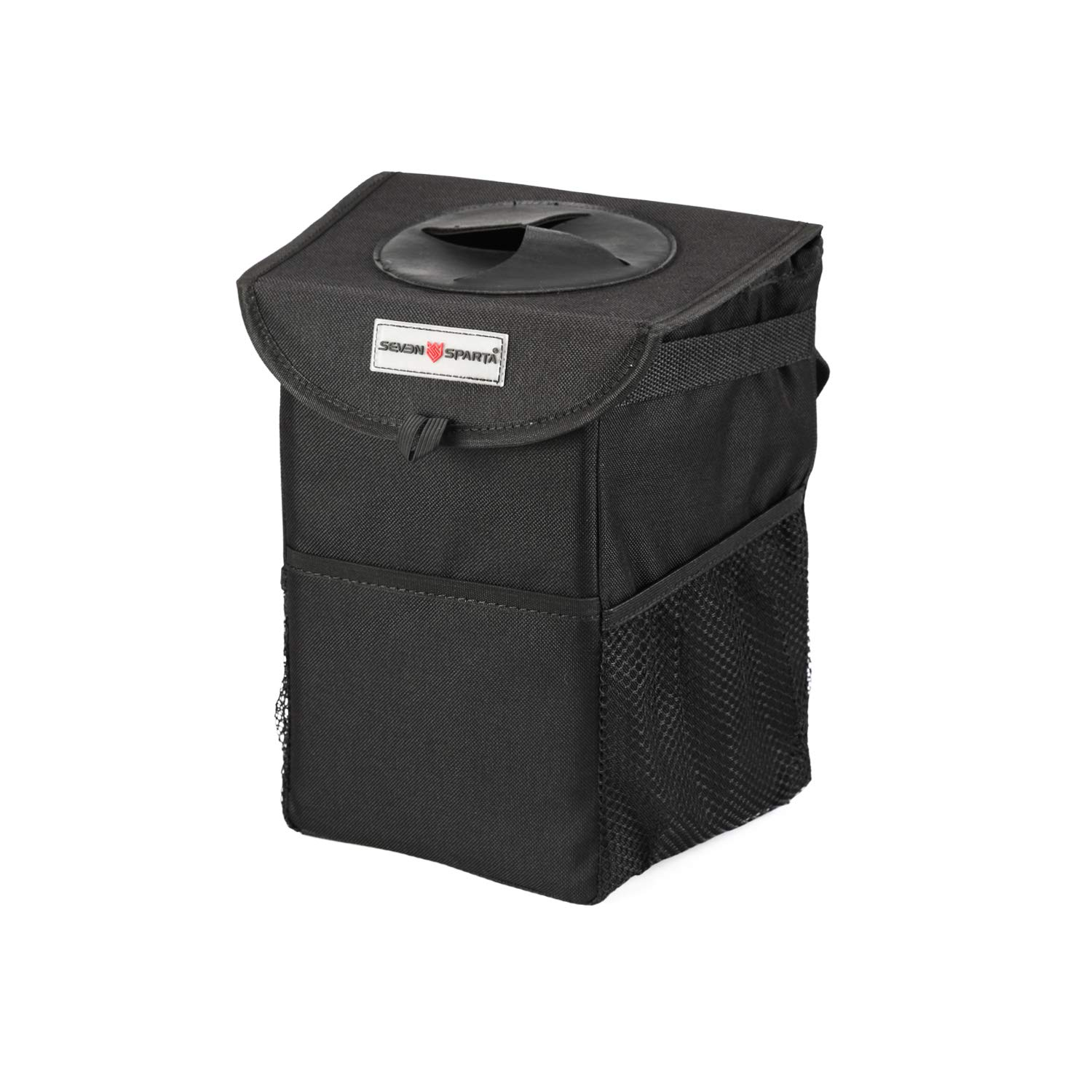 Seven Sparta Car Trash Can with Lid and 3 Storage Bag Hanging for Headrest with Strap Car Waterproof Seat Garbage Bag (9 1/2' H x 8' W x 6' D)