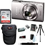 Canon PowerShot ELPH 360 HS 20.2 MP Digital Camera (Silver) with 16GB Accessory Bundle