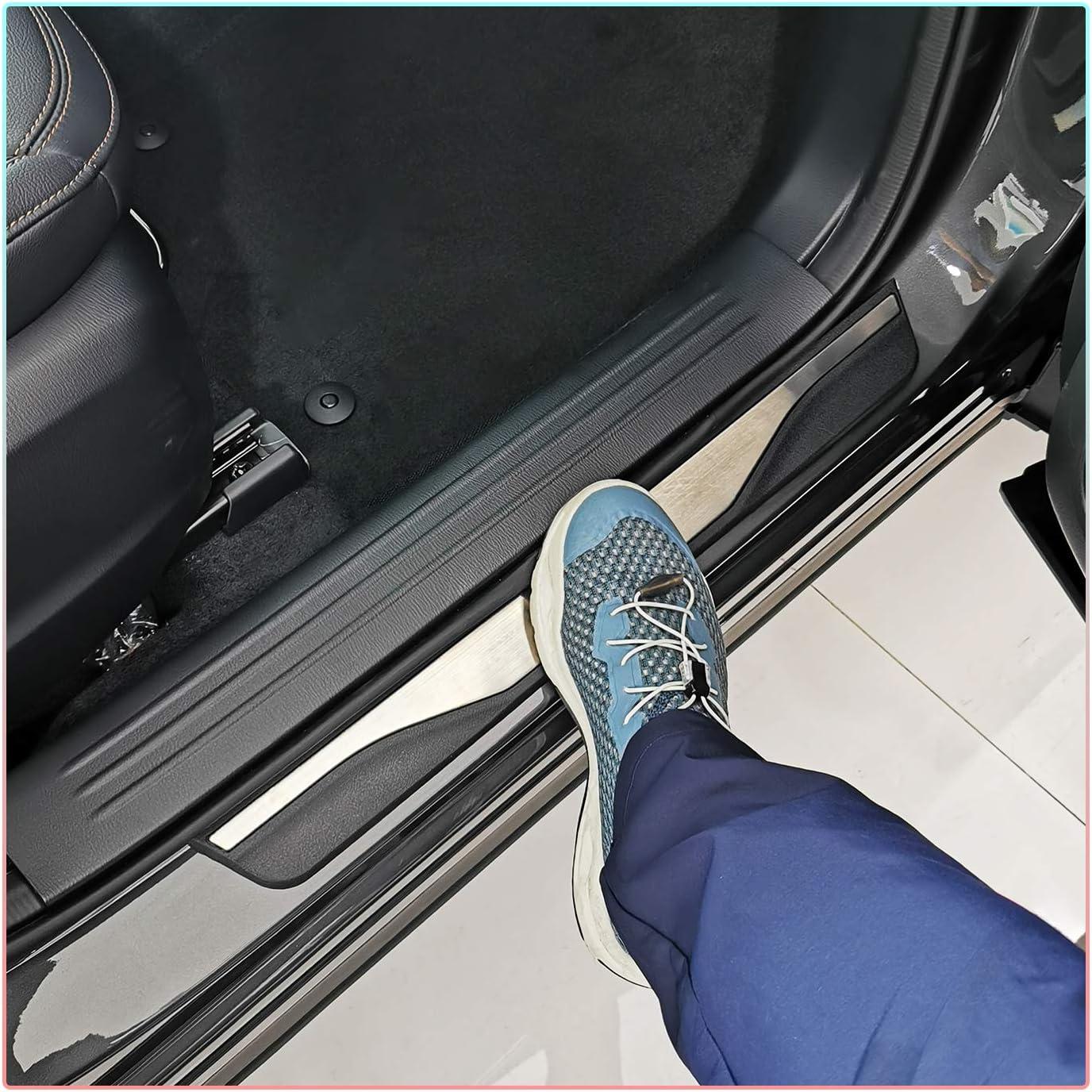 4 St/ück CDEFG f/ür Grandland X SUV Einstiegsleisten Abdeckung Interieur Ladekantenschutz Edelstahl