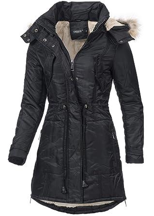 Violet Fashion Damen Wintermantel Os701 Warmer Mantel Mit