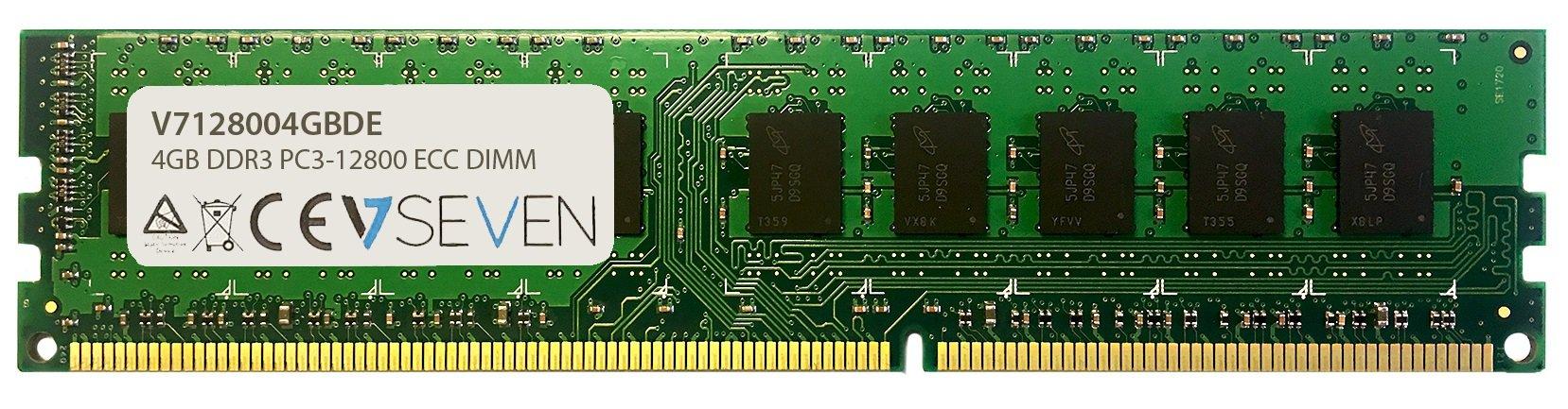 Memoria RAM 4GB V7 V712800 DE 4GB DDR3 1600MHZ CL11 ECC ECC DIMM PC3-12800 1.5V Internal