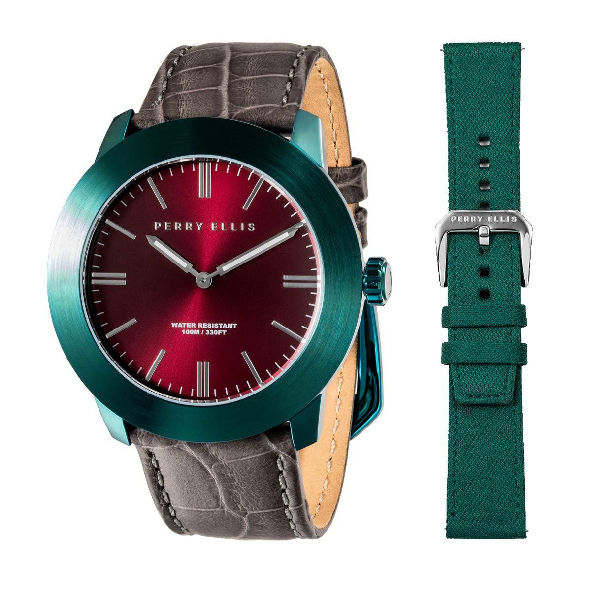 Perry Ellis 03009-01#LS110 - Reloj analógico de Cuarzo para ...