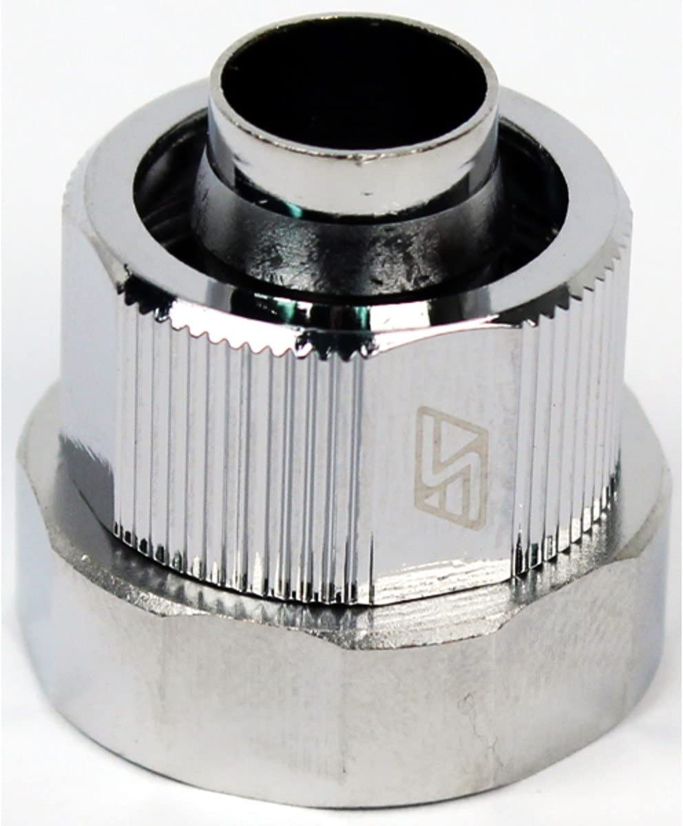 5//8 OD Compression Fitting End Cap for Quick Disconnect Couplings Swiftech 3//8 ID Chrome