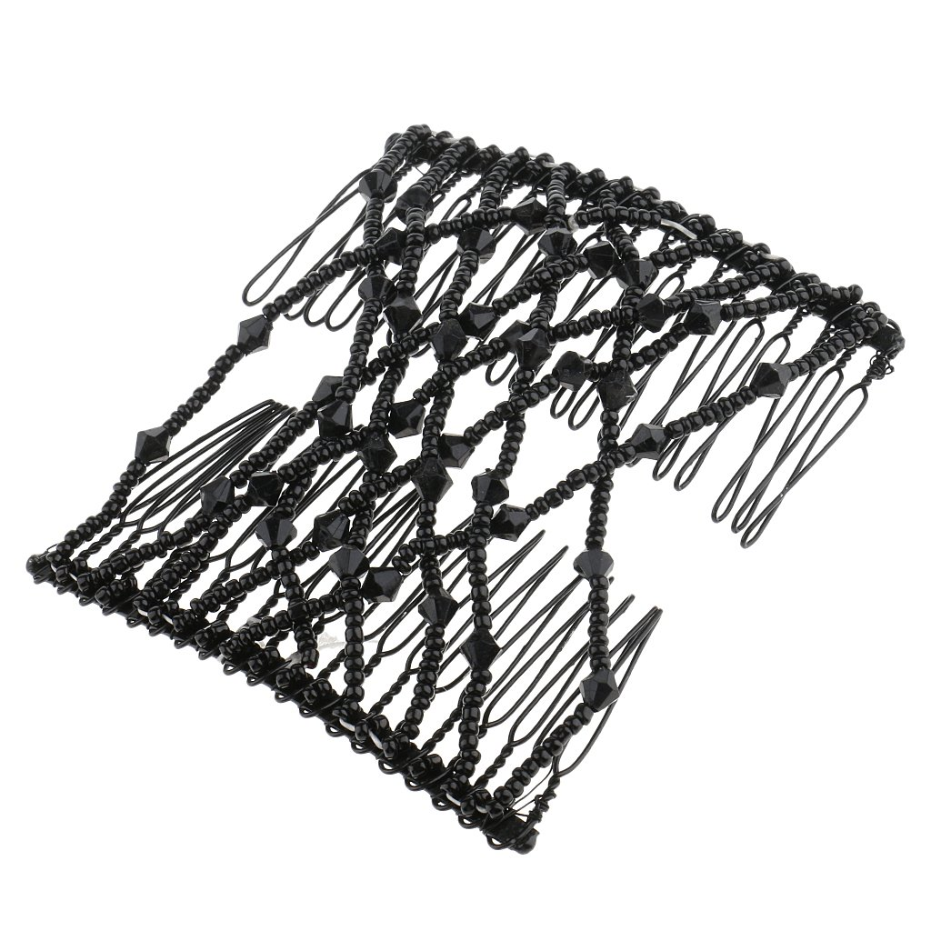 MagiDeal Beauty Black Bow Double Hair Combs Clips Hairstyling Design Tool for Women Girls Party Hair Decorations
