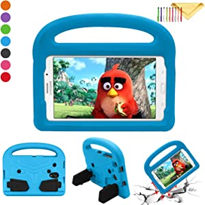 Cookk Kids 8.0 Inch Case for Samsung Galaxy Tab 4 8.0 Tablet 2014(T330), Galaxy Tab E 8.0 2016(T375/T377/T378), Galaxy Tab A 8.0 2017(T380/T385), Galaxy Tab A 8.0 2018 Case Handle (T387), Blue