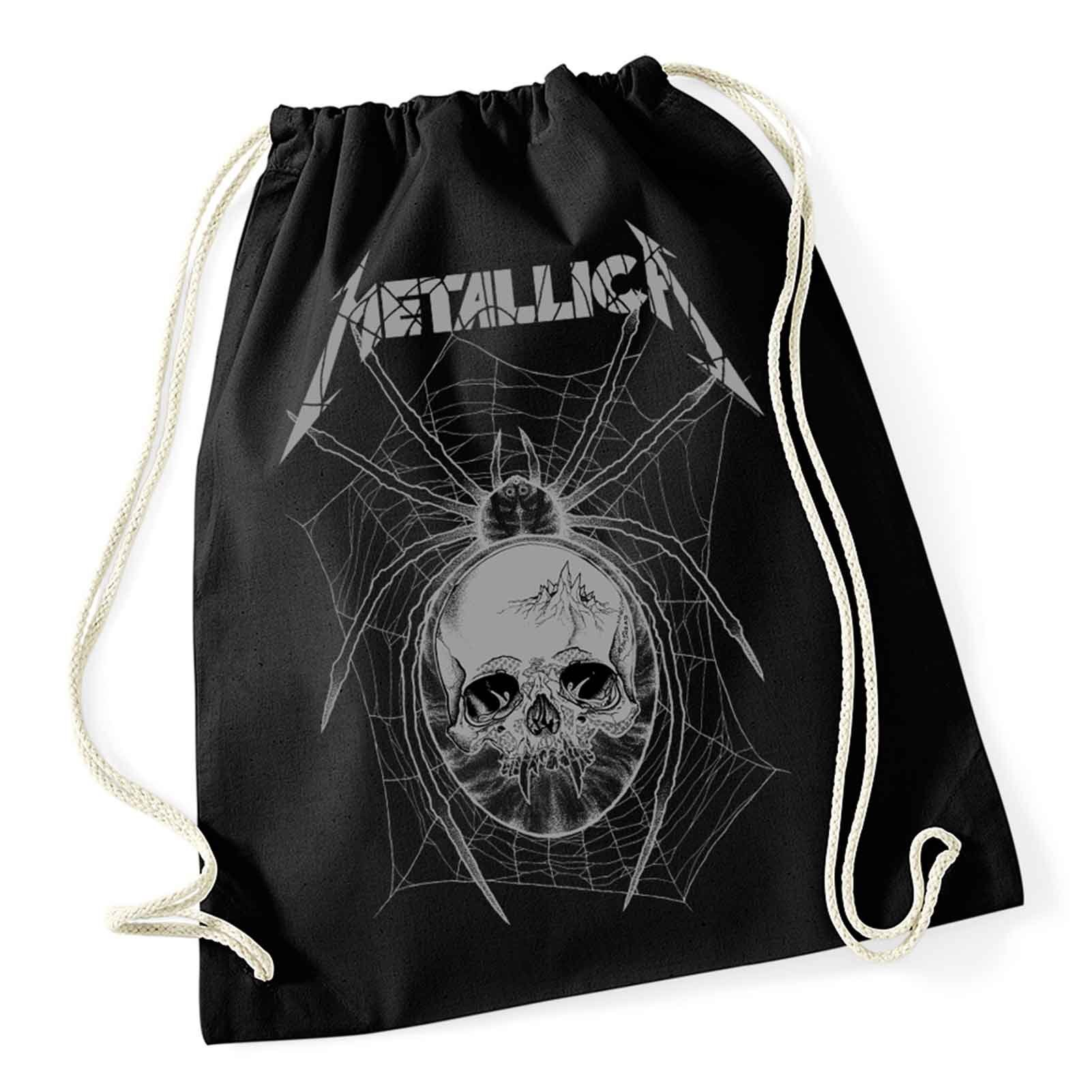 Metallica Gym Bag Grey Spider Band Logo Official Black