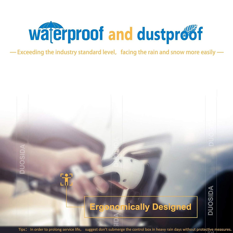 Nursight Duosida C/âble de Charge /électrique 3 Phases de Type 2 /à Type 2 32 A 5 m//16 ft C/âble de Charge pour v/éhicule /électrique 22 KW
