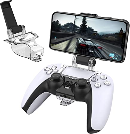 Amazon Com Dlseego Ps5 Phone Clip Game Holder Compatible With Sony Playstation 5 Newest Version Mount Stand Adjustable Multi Functional Bracket Mp3 Players Accessories