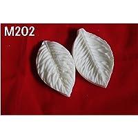 Get Inspired Foam Flower/Leaf Making Hard Polyresin Mould 202, 7 x4 cm, White -2 Leaves