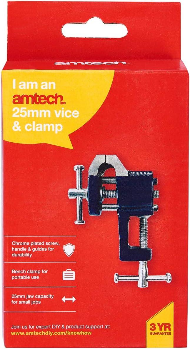 Am-Tech 25 mm y vice abrazadera D2900