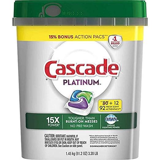 Cascada Platinum lavavajillas detergente cápsulas, 15 x ...