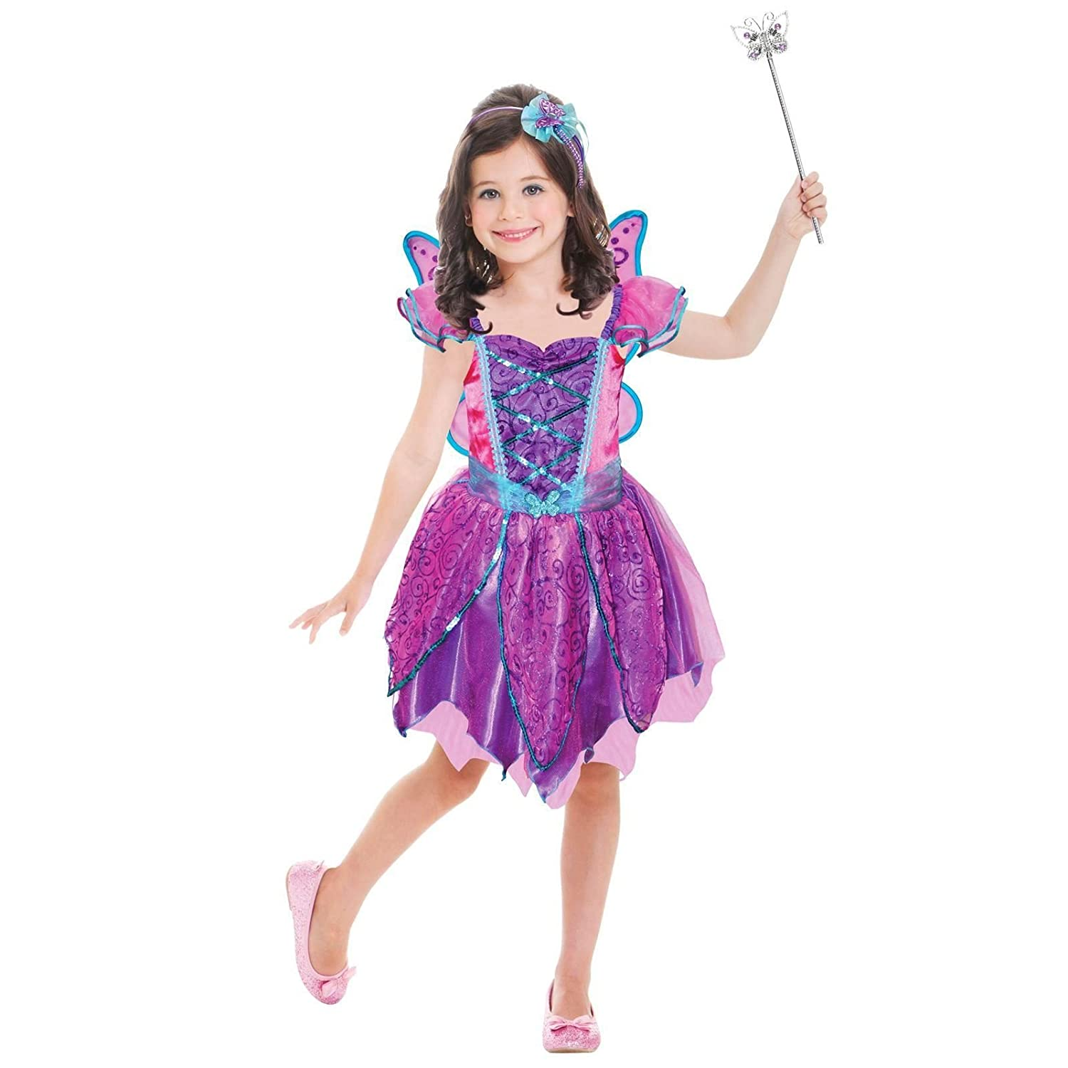 7c2d95763cb Girls Purple Fairy Fancy Dress Costume 3-6 Years Plum Pixie ...