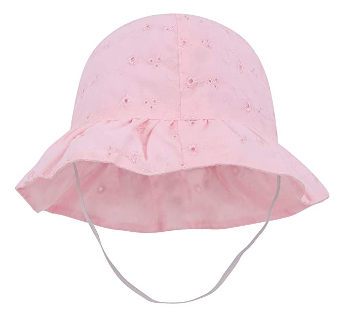 e0b327c210d531 SimpliKids Baby Infant Lovely Floral Embroidered Floppy Wide Brim Sun Hats  ,Pink,0-