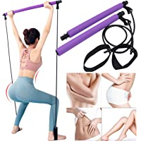 Creative Fitness Pilates Stick Bar with Foot Strap, Non Slip Exercise Resistance Bands, Portable and Multifunctional…