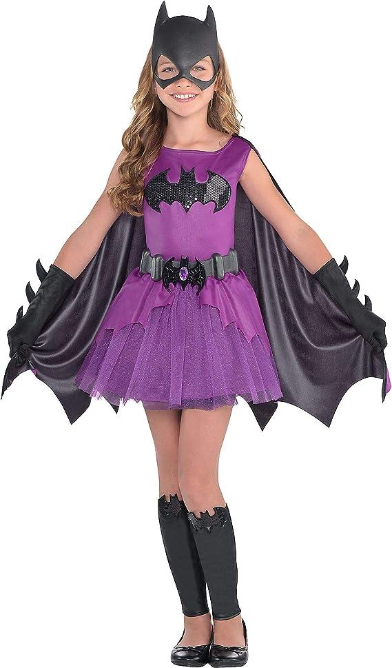 Disfraz de murciélago púrpura para niñas, Batman, grande, incluye ...
