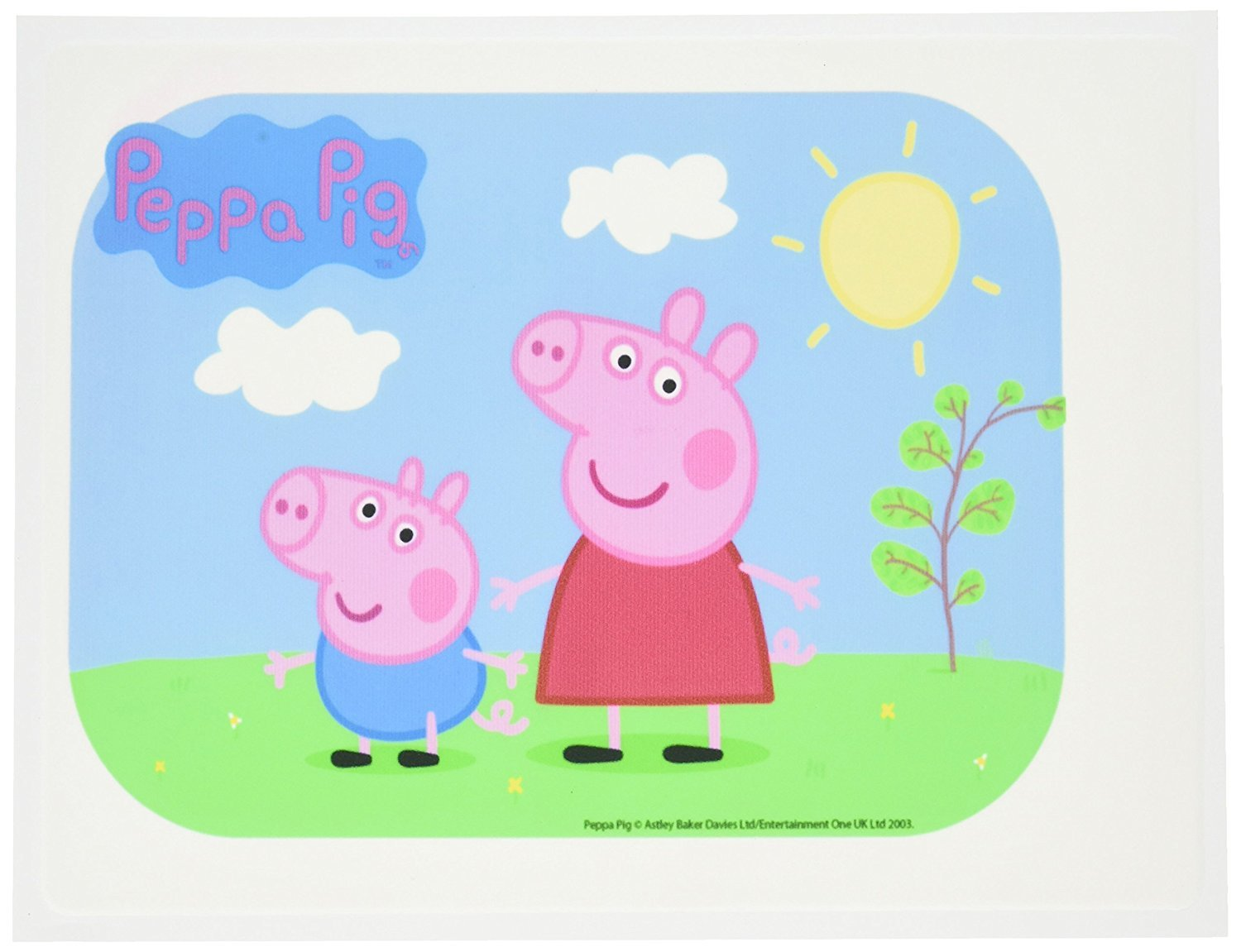 amazon com bakery crafts peppa pig edible icing image cake topper