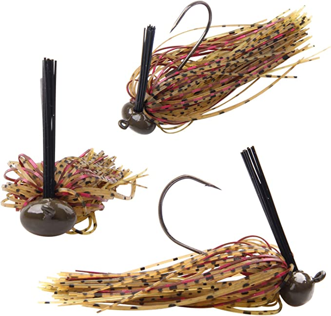 3//8 oz Weedless Football Jig Black Berry Pumpkin Grape Bass fishing lure bait