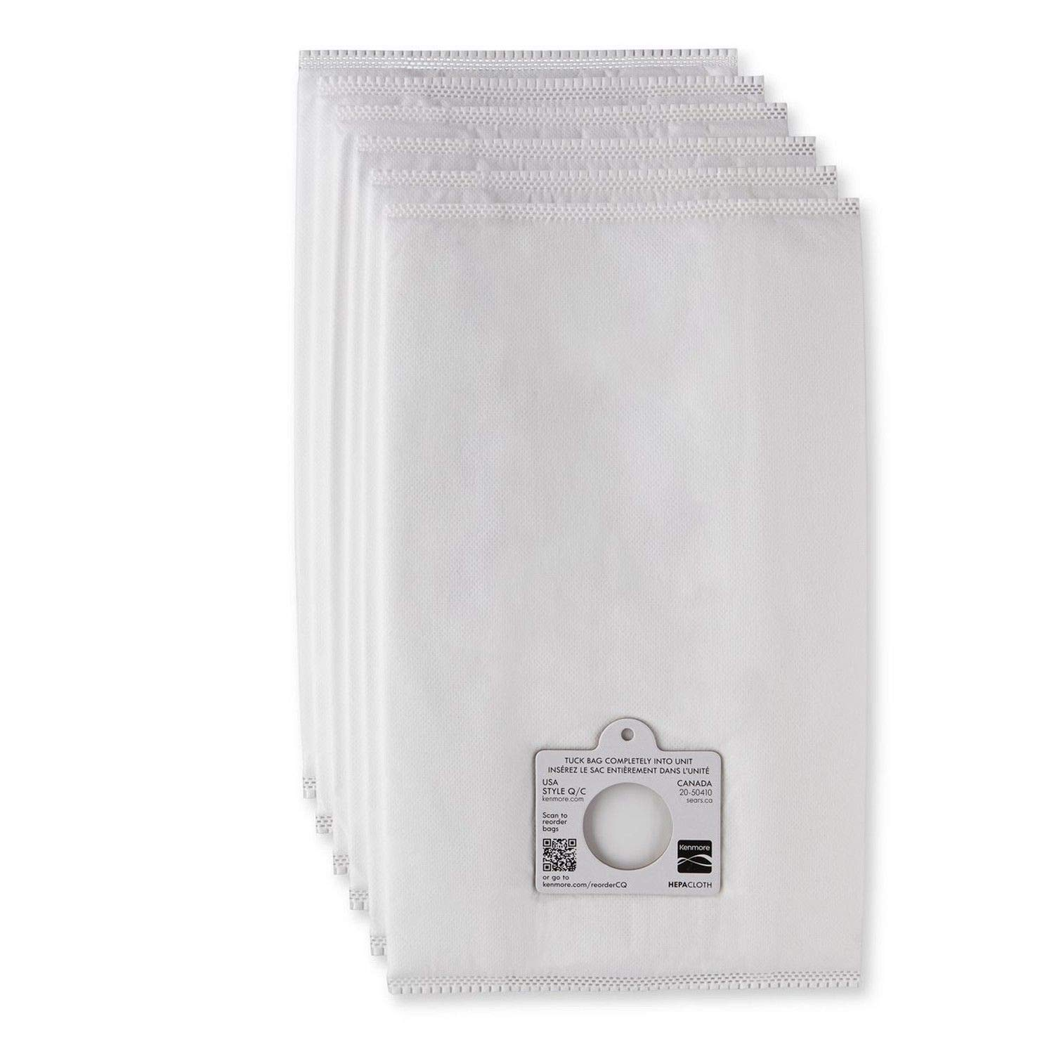 Sears Genuine 6-Pack Кеnmоrе Canister Vacuum Bags 53292 Type Q C HEPA for Canister Vacuums Cleaner