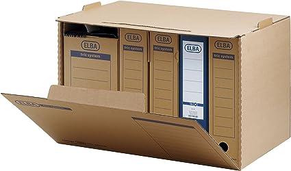 ELBA - Caja archivadora (sistema tri), color marrón: Amazon.es: Electrónica