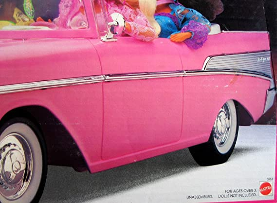 Amazon Barbie 57 Chevy Convertible Vehicle Pink Coolest Car