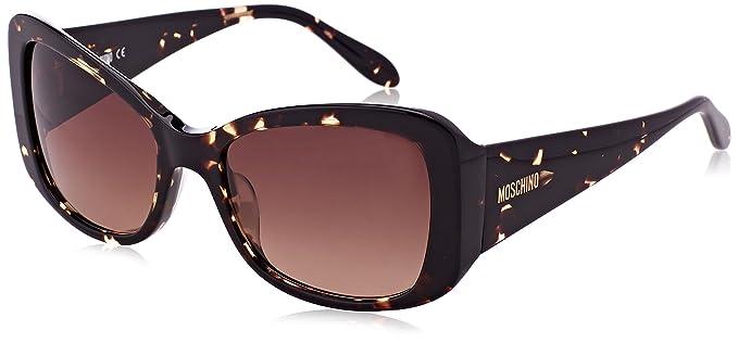 Moschino Damen Sonnenbrille Eye, Braun (Havana), 54