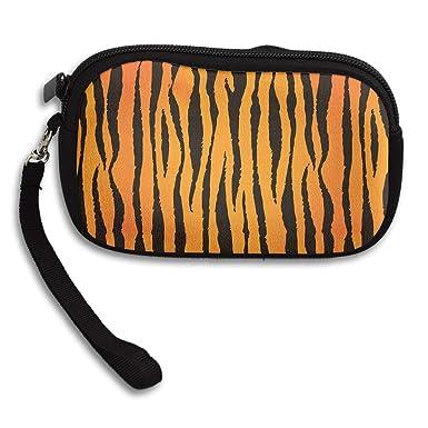 Amazon.com: Monedero de tigre a rayas con cremallera ...