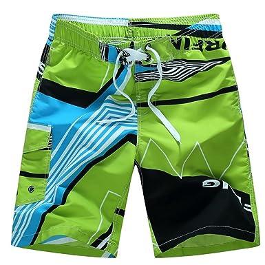 2d19259245 Brezeh Men Swim Shorts, Men's Quick Dry Long Swim Trunks Shorts Beach Surf  Shorts Swimwear