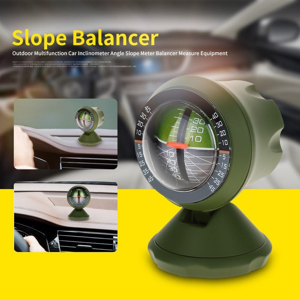 Outdoor Multifunction Car Inclinometer Equipment Angle Slope Meter Balancer Luminous High-Precise Car Compass Clinometer Indicator Car Inclinometer Level