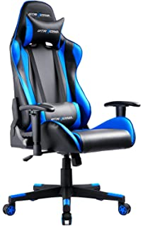 amazon com turismo racing ancora series gaming chair black and blue