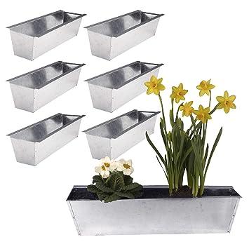 Unbekannt 6 Pflanz Schalen Gefasse Behalter Metall Verzinkt Fur Europaletten Garten Dekoration