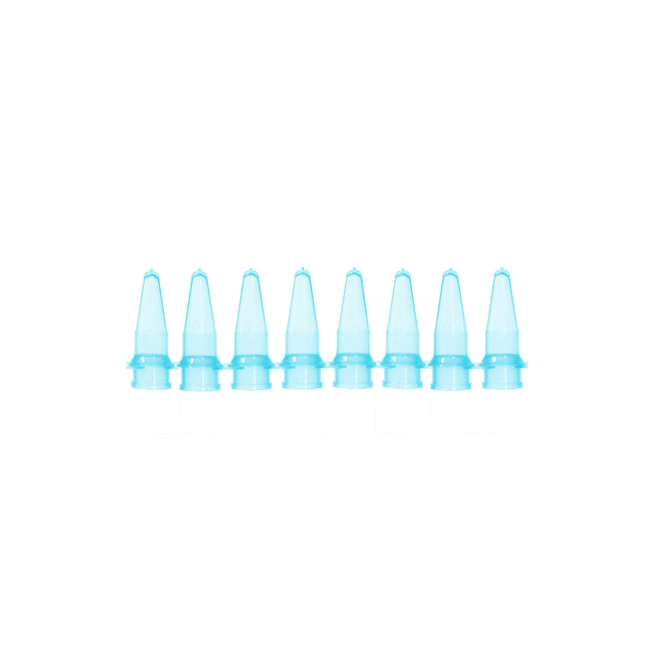Bio Plas 5010-4 Polypropylene 0.2mL 8 Strip Micro Tube for Thermal Cycling, Blue (Pack of 125) by Bio Plas (Image #2)