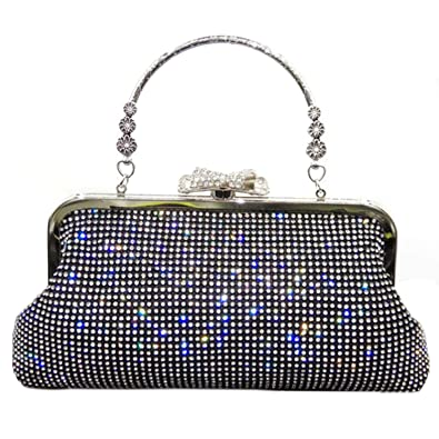 Wedding Ladies Party Prom Evening Clutch Beads Embroidery Handbag Purse Bag