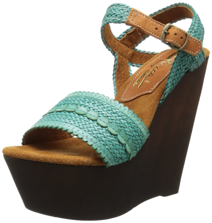 Sbicca Women's La Palma Wedge Sandal B00F0O0I3A 8 B(M) US|Turquoise