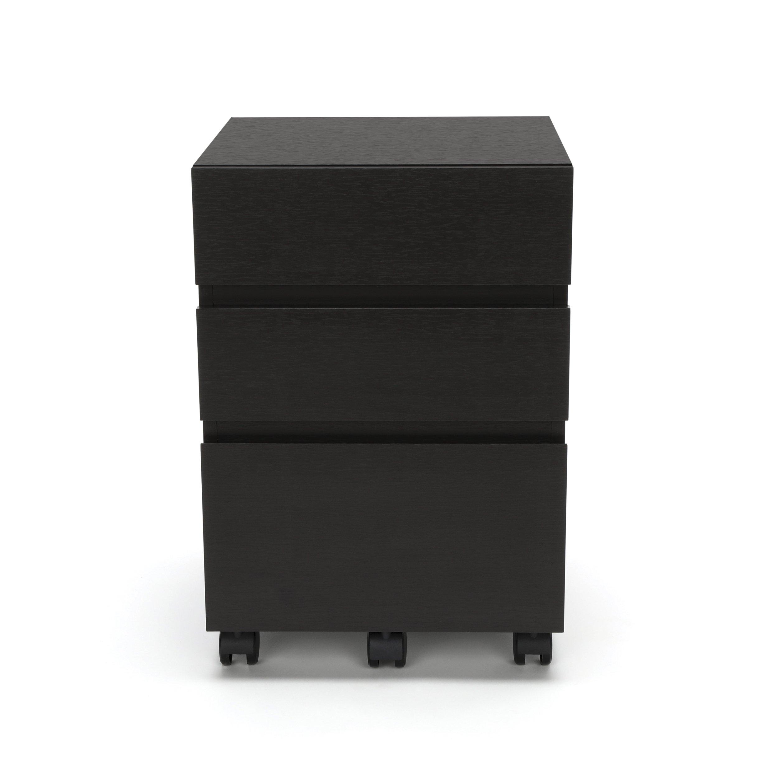 Essentials File Cabinet - 3-Drawer Wheeled Mobile Pedestal Cabinet, Espresso (ESS-1030-ESP) by OFM (Image #3)