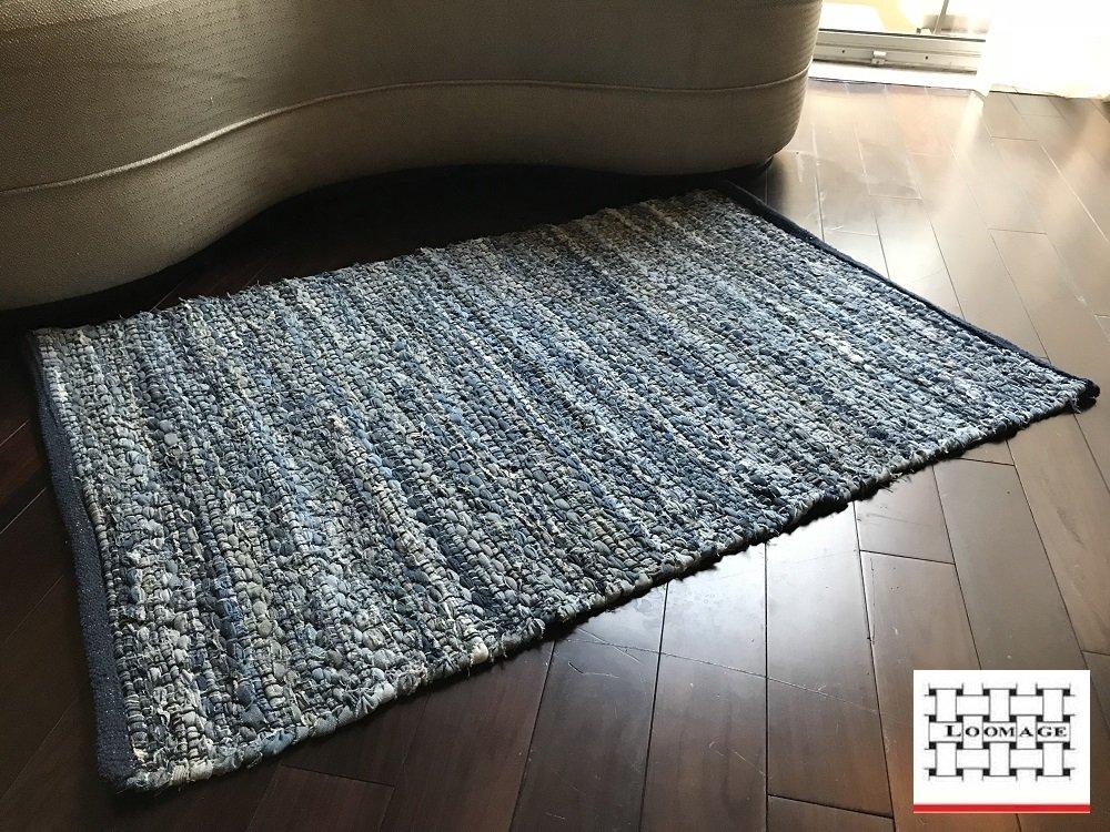 LOOMAGE INDIA Denim rug【Japan Produce】24.8×36.6inch