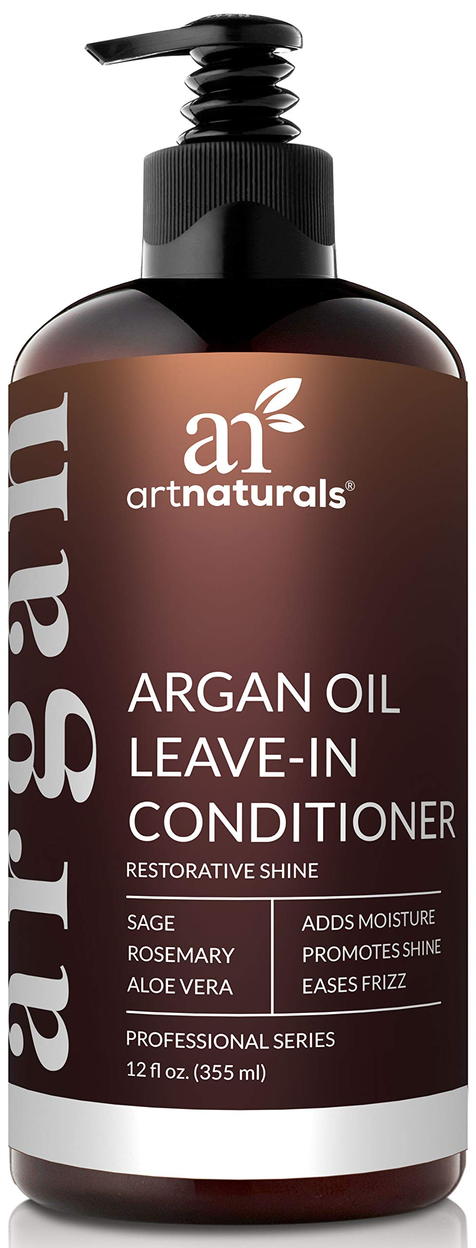 ArtNaturals Argan Oil Leave-In Conditioner - 12 oz Made with Organic and Natural Ingredients - for All Hair Types – Treatment for Damaged, Dry, Color Treated and Hair Loss