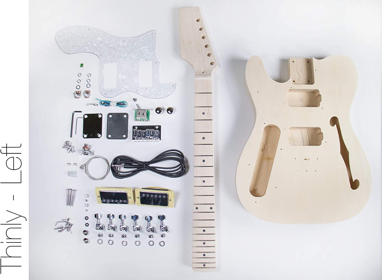 Kit de guitarra eléctrica TL Thinline de FretWire, para mano ...