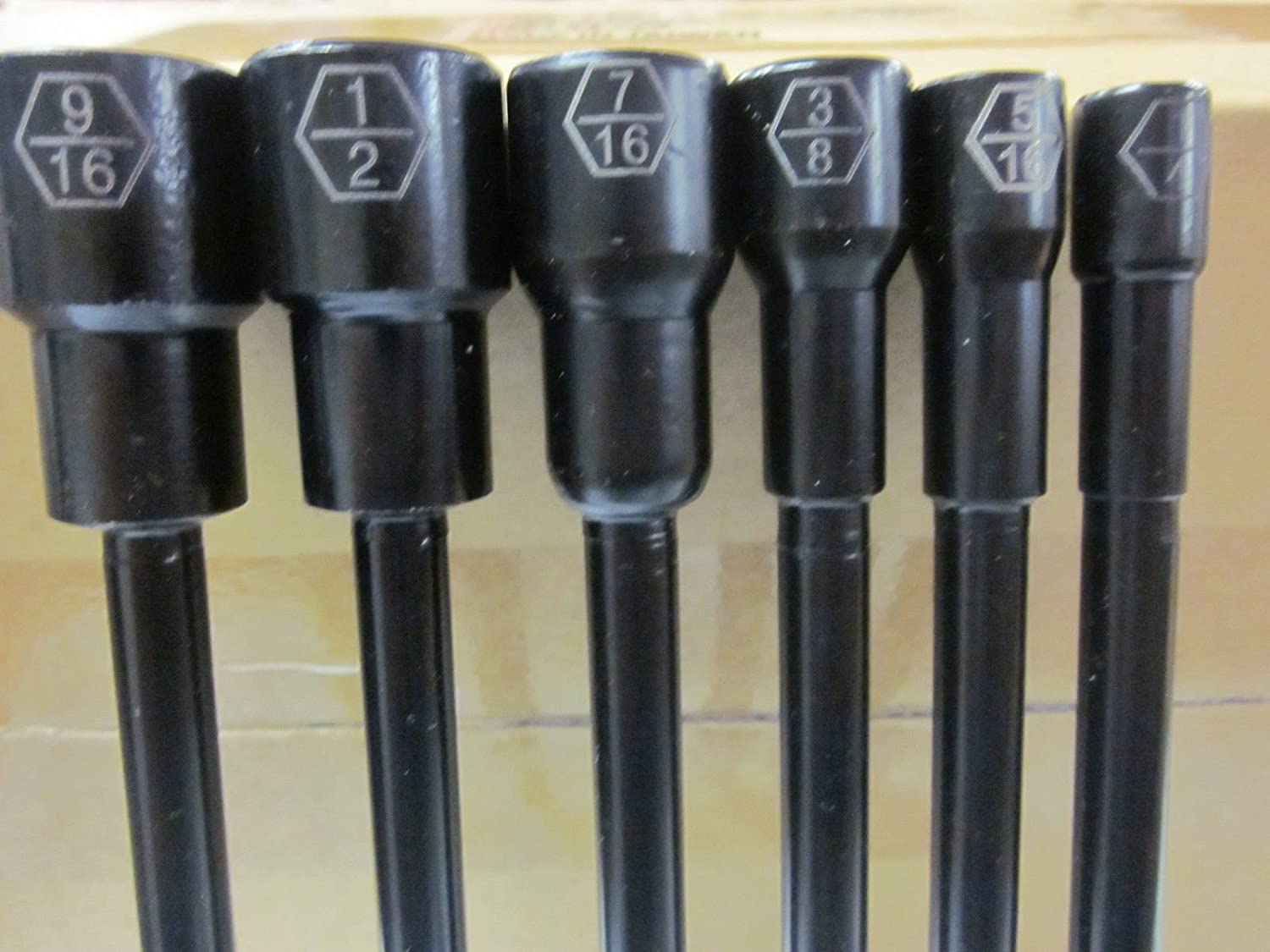 6pc IMPACT READY 6 MAGNETIC NUTSETTER 1//4 5//16 3//8 7//16 1//2 9//16 DRIVER NUT SET