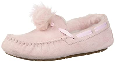 7348e0eb9 UGG Women s W Dakota Pom Slipper  Amazon.co.uk  Shoes   Bags
