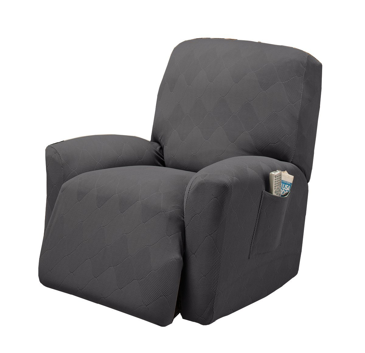 Stretch Sensations Optic Recliner Stretch Slipcover, Gray by Stretch Sensations
