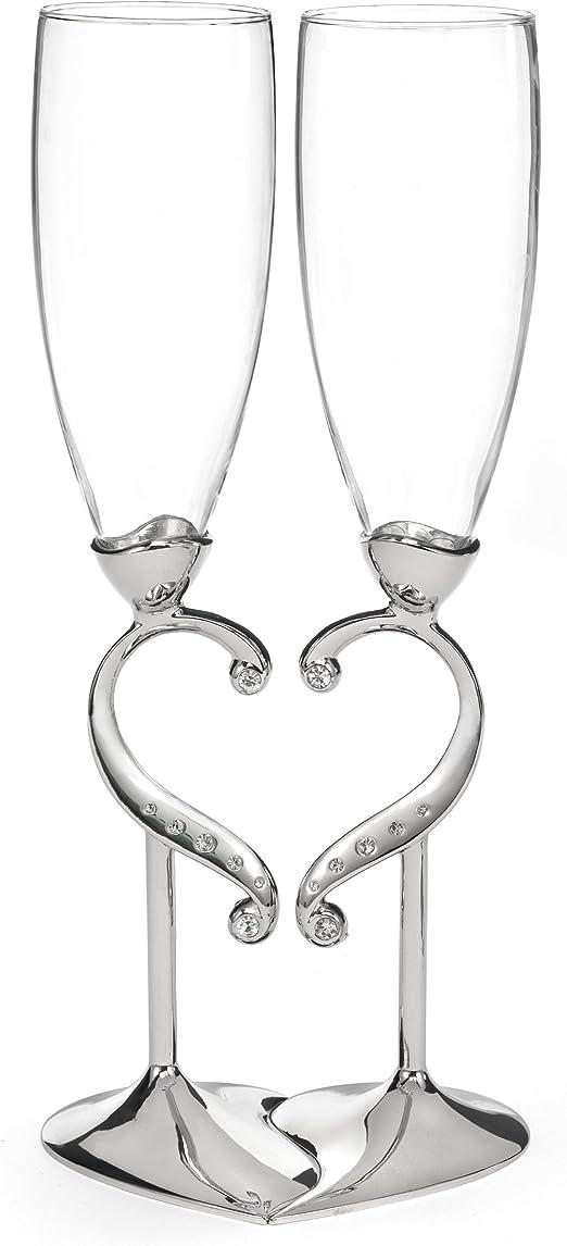 Hortense B Hewitt Copas de champaña Accesorios de Boda Juego de 2 Transparente 1