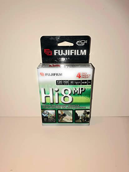 Fuji HI 8 MP P6-120 Camcorder Recordable Video Cassette Tapes 4-pack Discontinued by Manufacturer