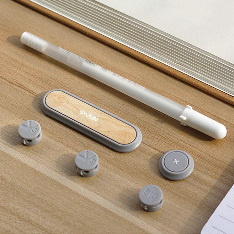 SYOSIN Clip Magn/ético Adhesivo para Cables Organizador de cables en coche u oficina soporte magn/ético para cables Organizador de Cables paquete de 3 unidades Beige