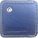 Orzero Cover and Key Chain For Tile Mate Finder Stylish Leather Case Protected From Scratch Wet Dust (Tile Finder Not Included) - Blue