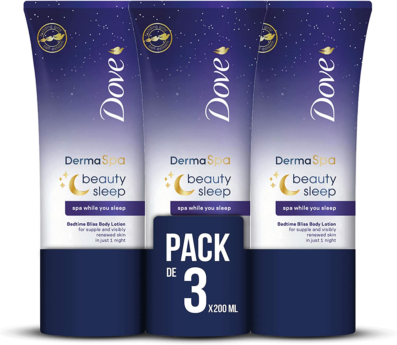 Dove Dermaspa Loción Coporal Night - Pack de 3 x 200ml (Total ...