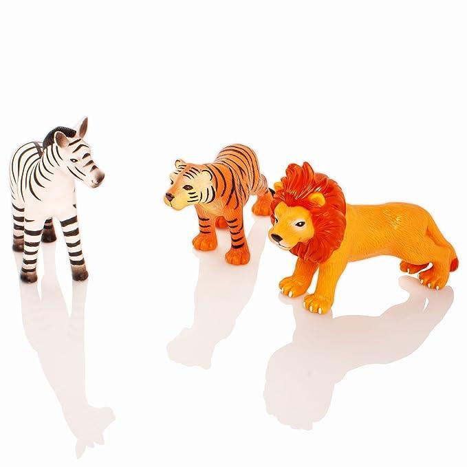 Learning Minds Conjunto de 8 Figuras Jumbo Jungle Animal - 18 Meses +: Amazon.es: Juguetes y juegos
